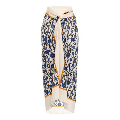 AGUA BY AGUA BENDITA | Lavanda Printed Cotton-Silk Pareo