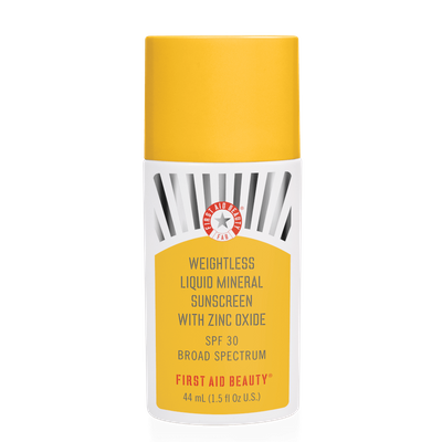 FIRST AID BEAUTY | Weightless Liquid Mineral Sunscreen SPF30 - 25% off with code MAMINA