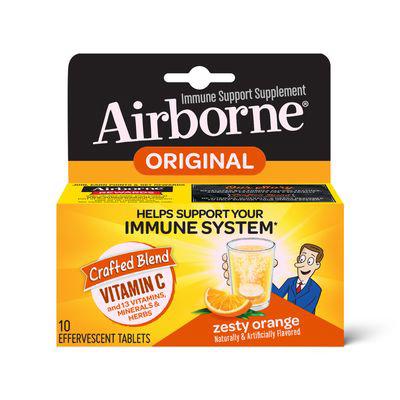 AIRBORNE | Zesty Orange Effervescent Tablets