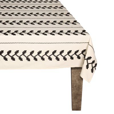CAROLINA IRVING & DAUGHTERS | Black Vine Tablecloth