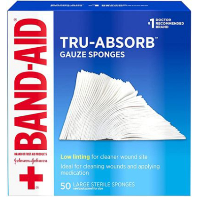 BAND AID | First Aid Products Tru-Absorb Gauze Sponges For Cleaning Wounds