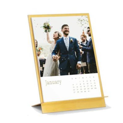 ARTIFACT UPRISING | Brass Easel Photo Desk Calendar