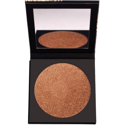 UOMA BEAUTY | Black Magic Carnival Face & Body Bronzing Highlighter - Barbados (Warm Bronze W/ Gold Pearl For Medium To Dark Skin Tones)