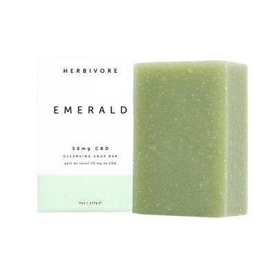 HERBIVORE BOTANICALS | Emerald CBD Cleansing Soap Bar