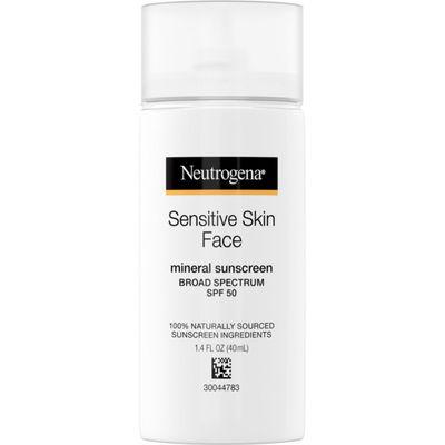 NEUTROGENA   Sensitive Skin Mineral Face Sunscreen SPF 50