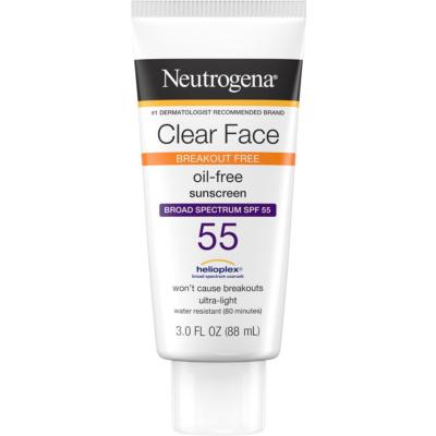 NEUTROGENA   Clear Face Oil-Free Sunscreen SPF 55