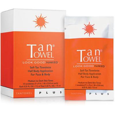 TAN TOWEL | Plus Self-Tan Towelette Half Body Application For Face & Body