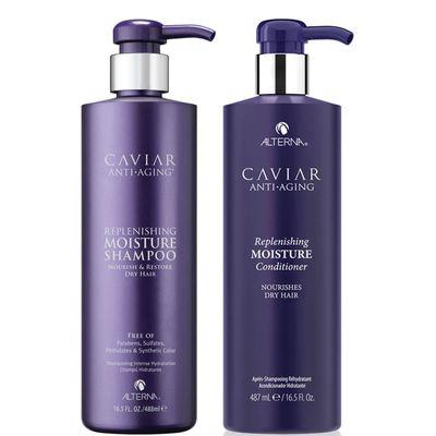 ALTERNA | Caviar Anti-Aging Replenishing Moisture Shampoo And Conditioner 16.5 Oz (worth $132)