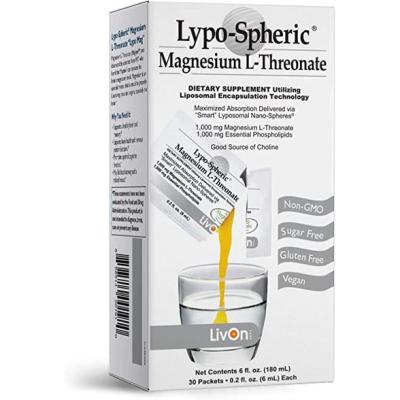 LIVON LABORATORIES | Lypo–spheric Magnesium L–threonate