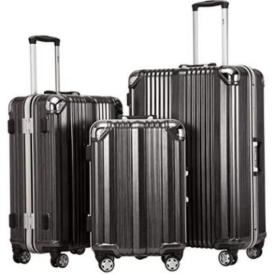 Coolife Luggage Aluminium Frame Suitcase 3 Piece