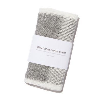 MORIHATA | Binchotan Charcoal Body Scrub Towel