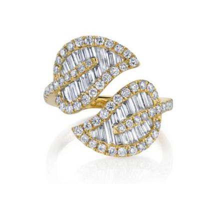 ANITA KO | Large Leaf Diamond Ring