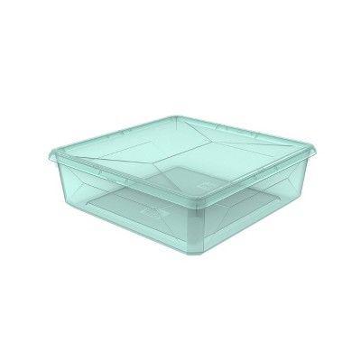 ROOM ESSENTIALS | Small Modular Storage Bin Turquoise Tint