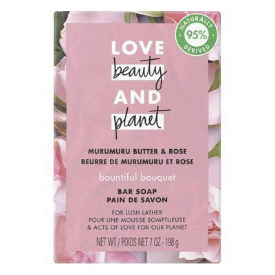 Love Beauty And Planet, Bountiful Bouquet, Bar Soap, Murumuru Butter & Rose Bar Soap