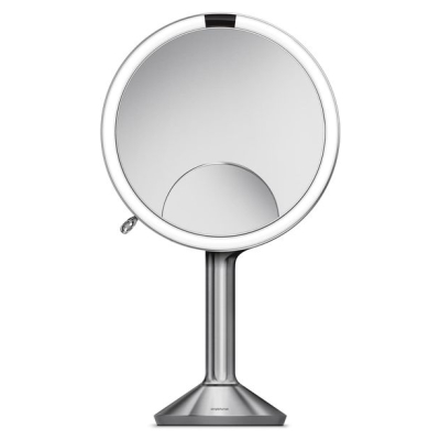 SIMPLEHUMAN | Trio Eight Inch Multi-Magnification Sensor Makeup Mirror