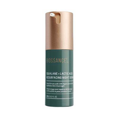 BIOSSANCE | Squalane + 10% Lactic Acid Resurfacing Night Serum (EXFOLIANT FOR DRY SKIN)