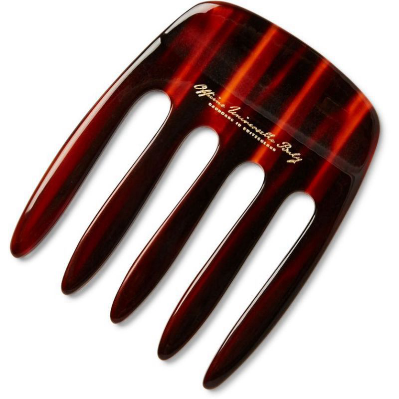 Red Horn-Effect Acetate Pick Comb